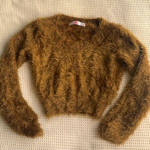 American apparel soft & fuzzy crop sweater size S